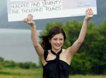 young person wins the lottery and wastes it