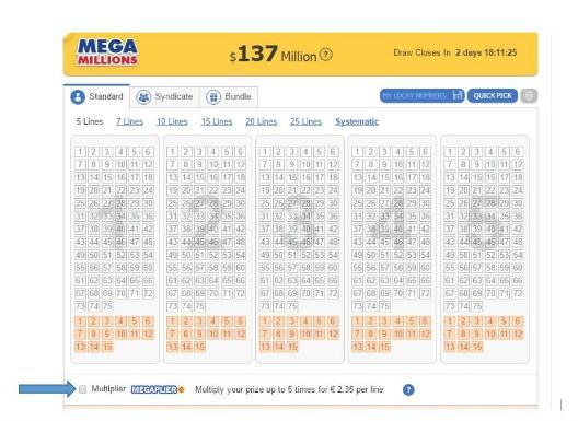 how to play mega millions megaplier